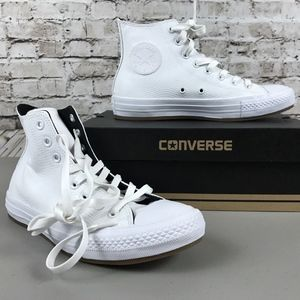 Men's Converse High Top Shoes Size 7 All White NWT